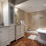 Master bathroom hardwood floor ideas