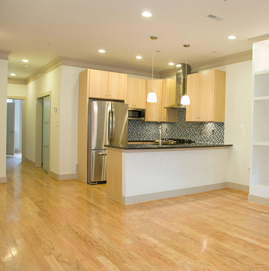 Kitchen in Basement Apartment