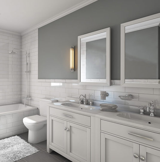 Modern bathroom renovation and remodeling in toronto for Professional bathroom renovations