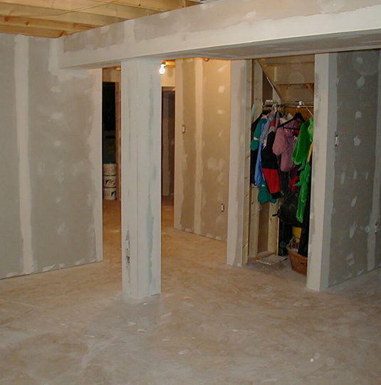 Starting Process Basement Renovation