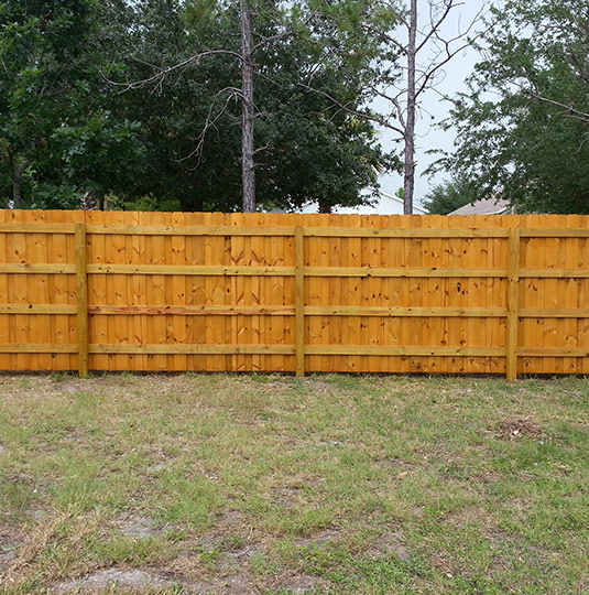 Backyard Pressure Wood Fencing