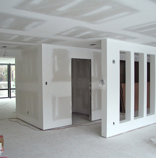 Main Floor New Drywall