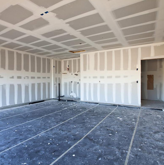 Open Concept Drywall Installation