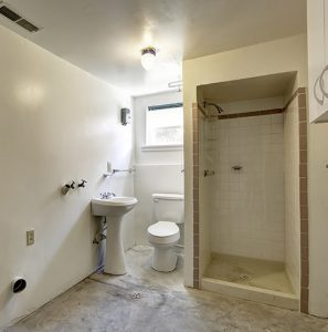 Bathroom Renovation in basement